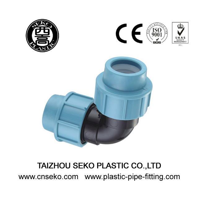 PP Compression Fittings-1-90 Deg. Elbow