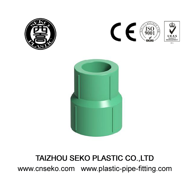Green white grey ppr reducing coupling/reducer plastic pipe fittings