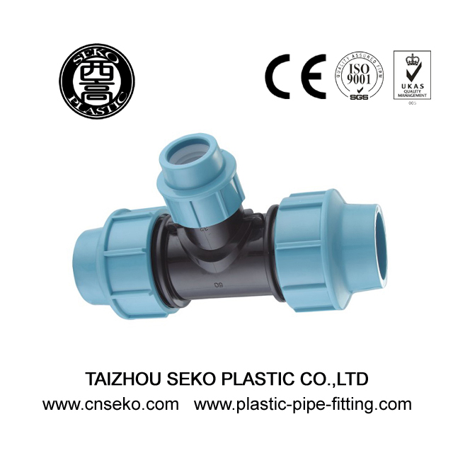 PP Compression Fittings-1-Reducing Tee