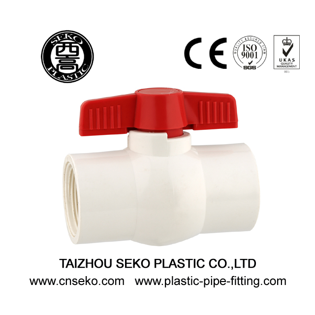 Compact Female Socket Plastic Ball Valve