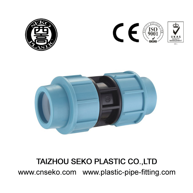 PP quick coupling agriculture compression pipe fittings