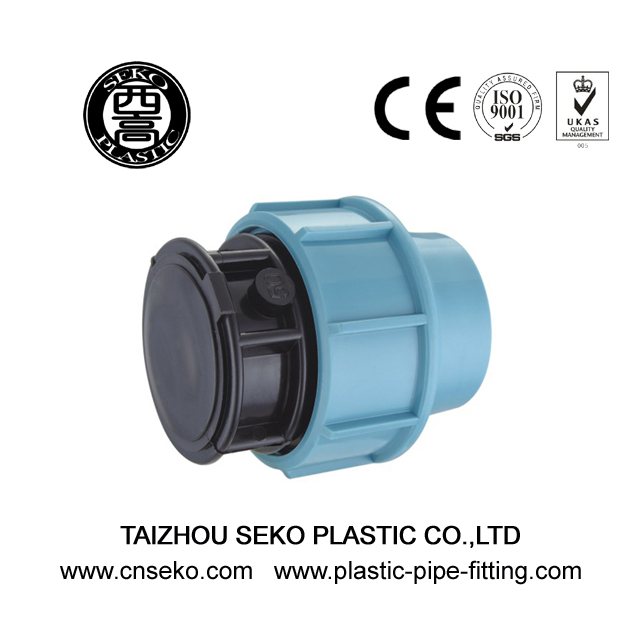 PP plastic blue and black end cap plug pipe fittings