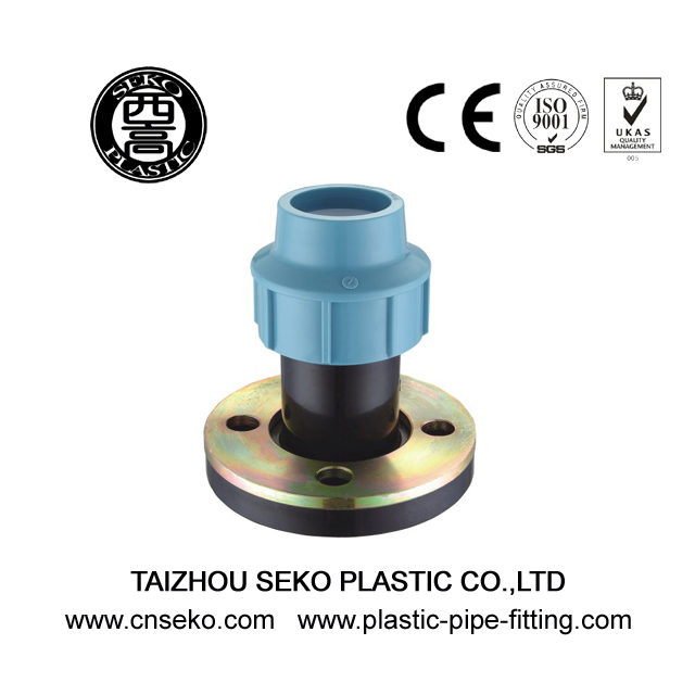 PP HDPE flange plastic compression pipe fittings