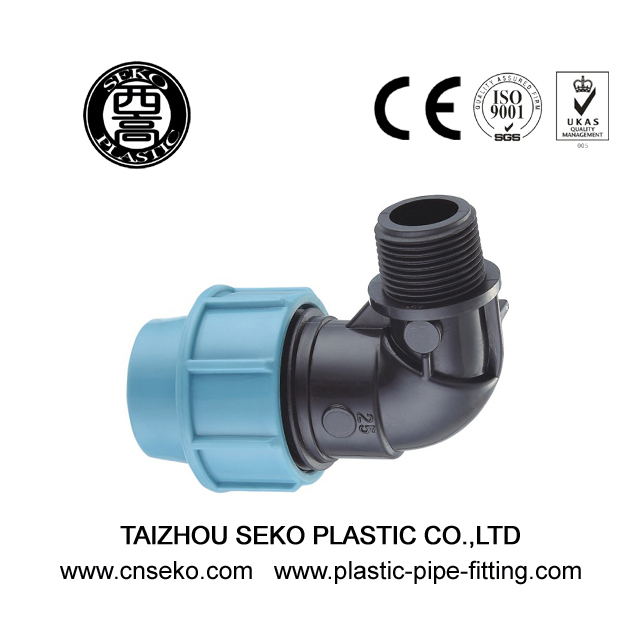 PP Compression Fittings-1-Male Elbow