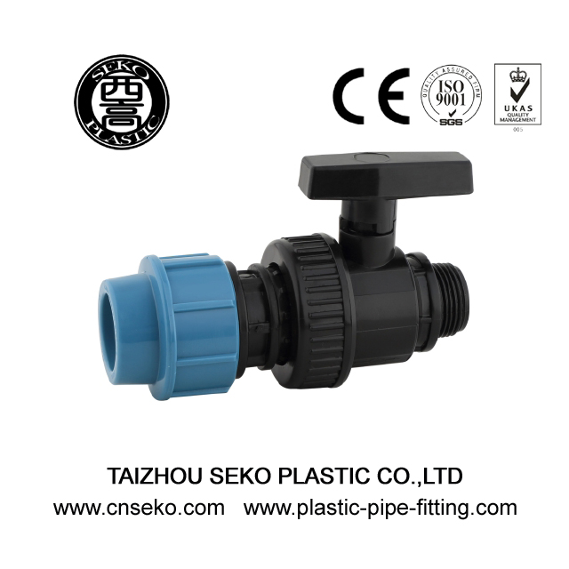 Single union male ball valve 1/2