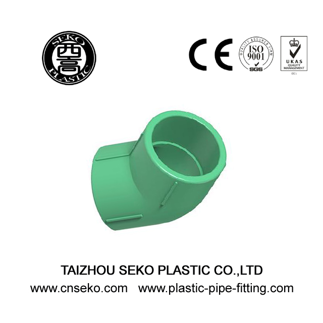 20-160mm ECO-friendly Green PPR pipe 45 Deg Elbow fittings