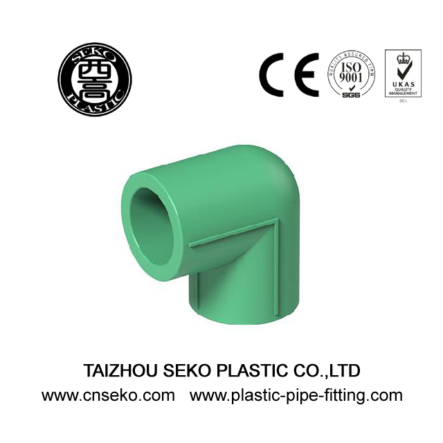 20mm-160mm Green PPR 90 Degree Joint Elbow Fittings