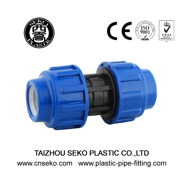 Equal coupling socket hdpe pp compression pipe fittings
