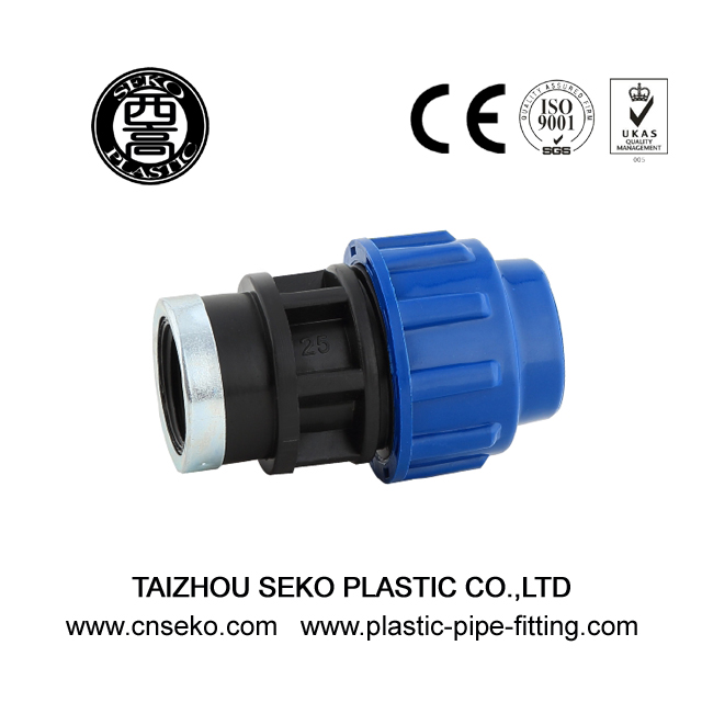 Fast connecting female threaded adaptor compression fittings