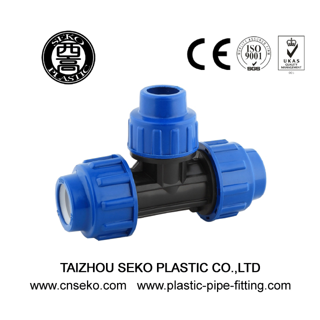 Hdpe pp reducing tee quick push pipe fittings for water supply