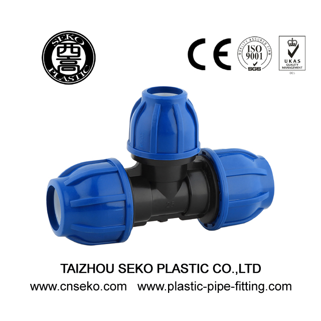 PP Compression Fittings-3-Reducing Tee