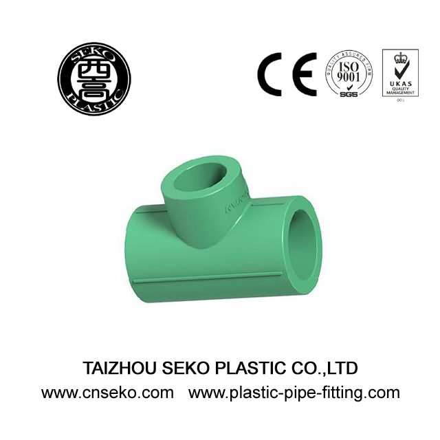 25*20mm-160*110mm Green PPR HDPE Reducing Tee Pipe Fittings