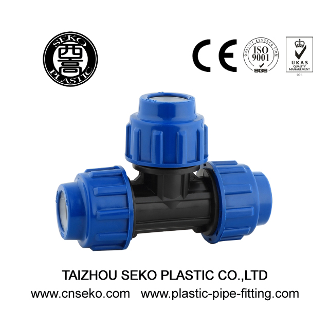 20mm-110mm plastic equal tee compression pipe fittings