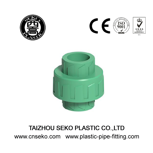 Plastic PPR Flexible Union Green White Grey Fitting Pipe