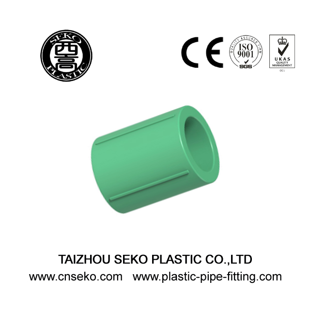Wholesale customized green PPR reducing coupling/reducer garden pipe fittings