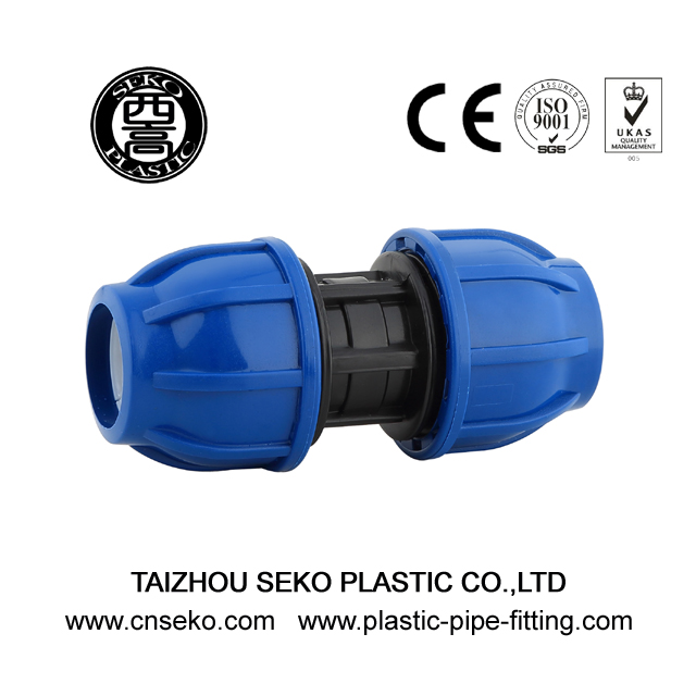 New material pp blue and black coupling compression fittings