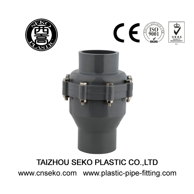 Durable PVC/PP/PVDF 20mm-200mm check valve for water supply