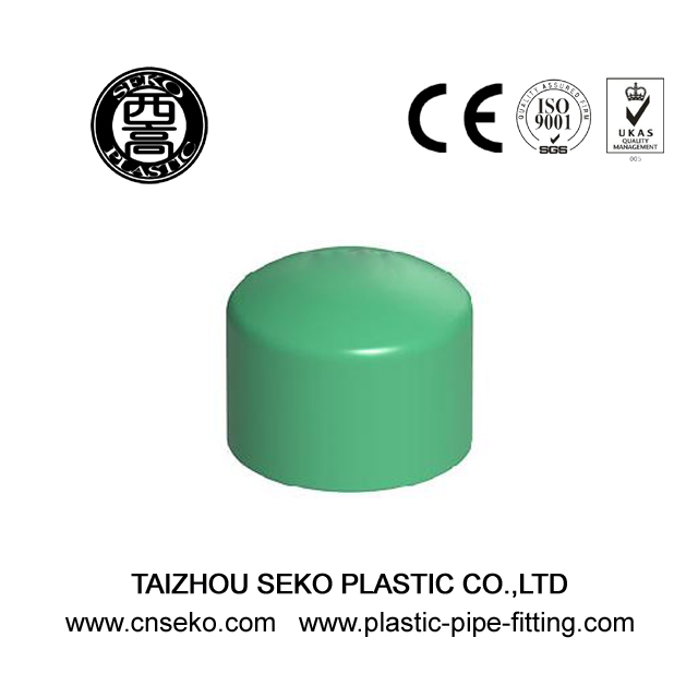 Green White Grey PPR End Cap Plastic Pipe Fittings