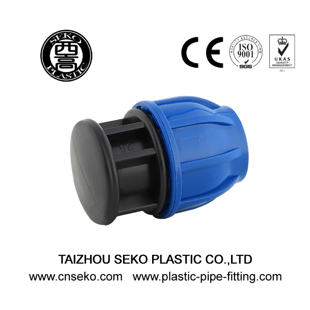 Pp hdpe end cap/plug PN16 compression fittings
