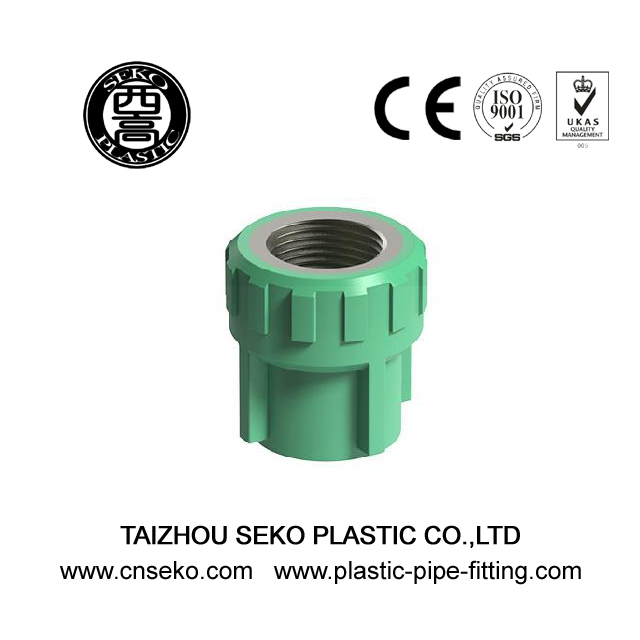 Green white grey brass thread female adaptor plastic coupling ppr pipe fittings
