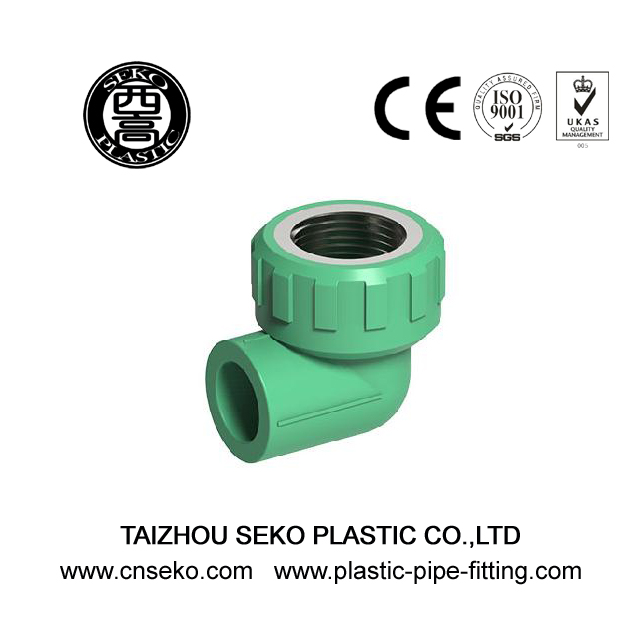 Customized Size Brass Thread Green Female Elbow Pipe Fitting