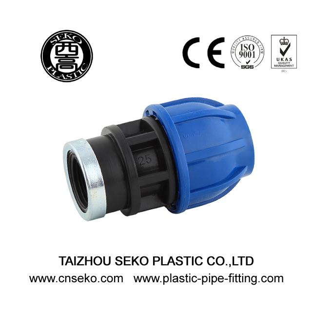 High pressure pp hdpe female threaded adaptor fittings