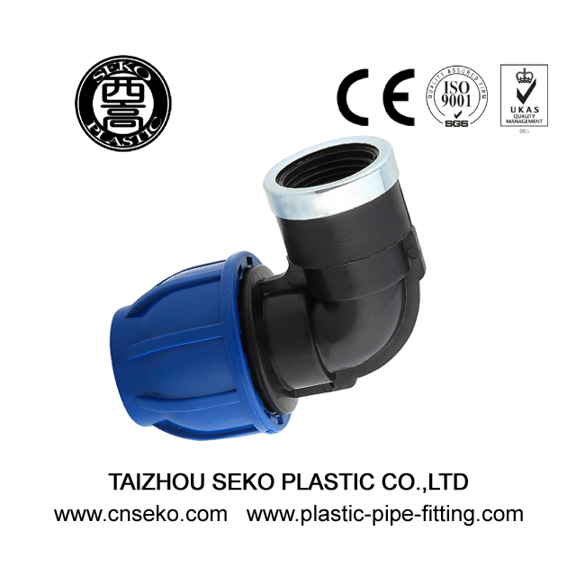High performance pp female elbow compression fittings