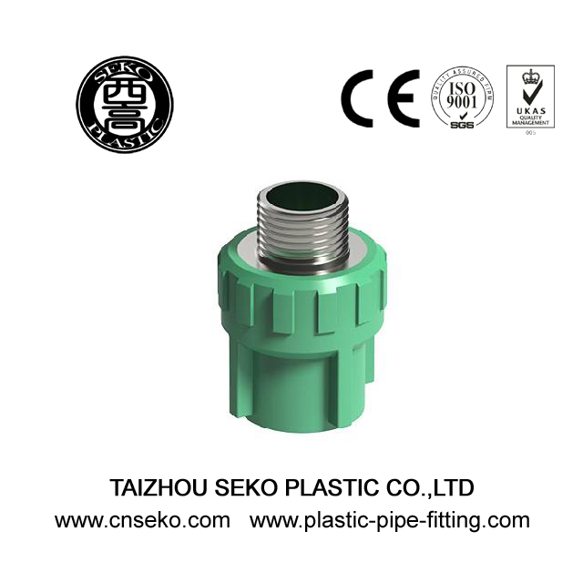 Full size green brass thread male coupling ppr pipe fitting adaptor