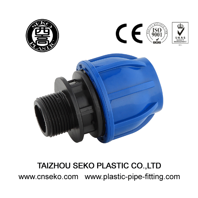 PP hdpe male adaptor threaded coupling compression fittings