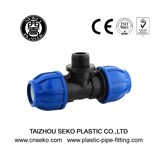 Agricultural Irrigation Male Tee 20mm-110mm Push Fittings