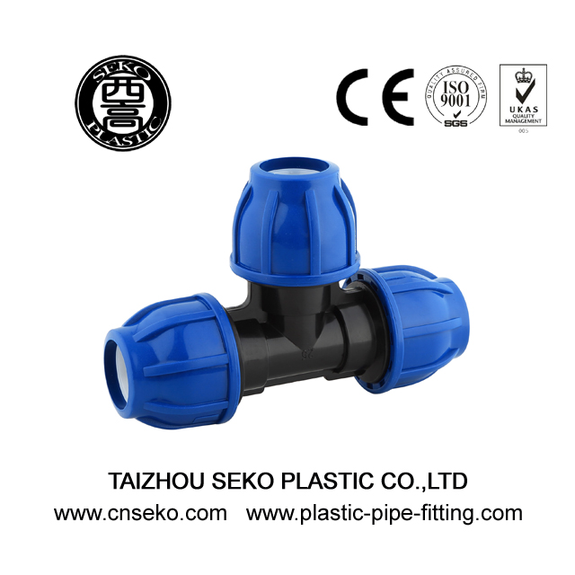 Equal tee 20mm-110mm pp pe compression fittings