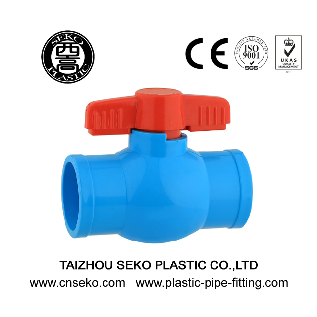 Blue 20mm-63mm compact PVC equal PN10 ball valve