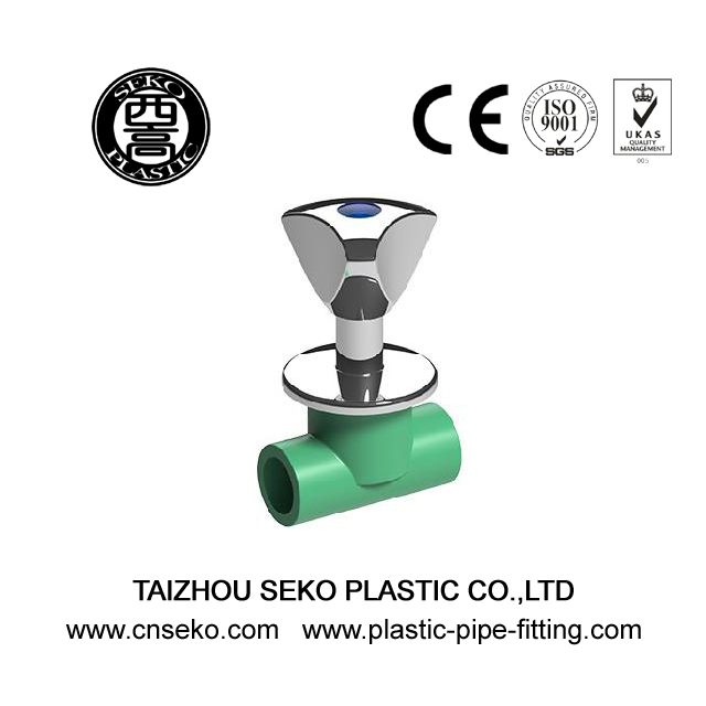 PPR Fittings-Wholesale custom made green PPR heavy stop valve water supply system