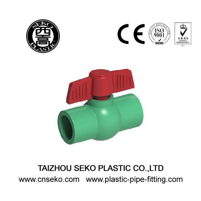 Wholesale 20mm-63mm PPR green round ball valve plastic pipe fittings