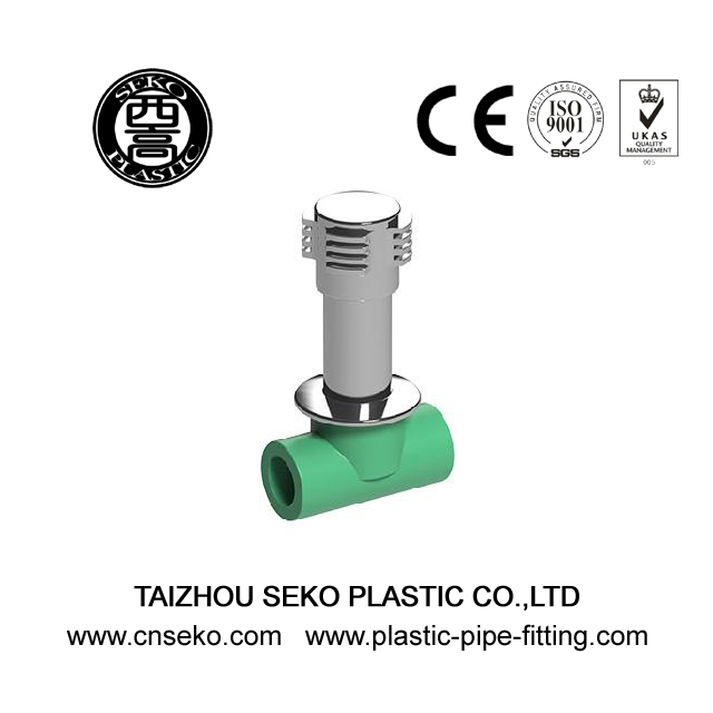 Quick opening 20mm-32mm green PPR heavy stop valve fittings for agriculture
