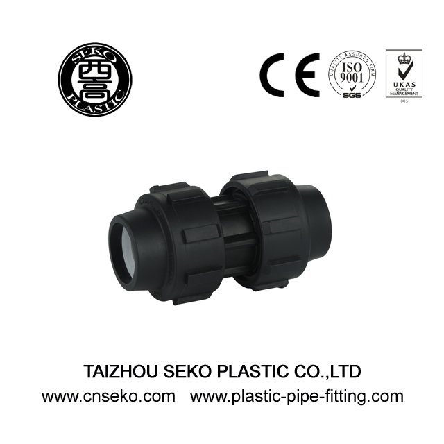 Agriculture PP Equal Coupling Black HDPE Compression Fittings