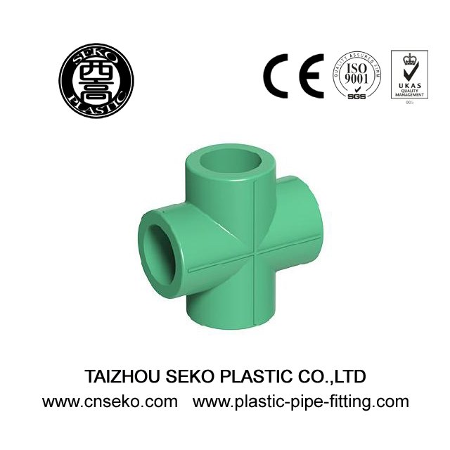 20-63mm Green White Grey PPR Cross Equal Pipe Fittings