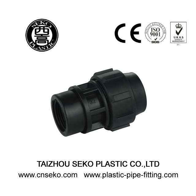 Good Price Black Female threaded adaptor 20mm-110mm fittings