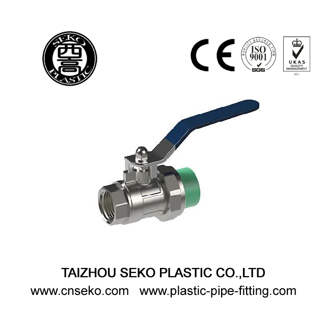 Green white grey ppr female brass valve conneciton plastic fittings