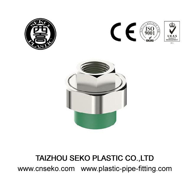 Green PPR female thread union connector pipe fittings for water supply
