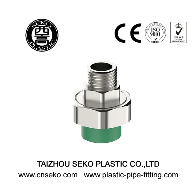 Green PPR Male Threaded Union Adapter For Cold And Hot Water