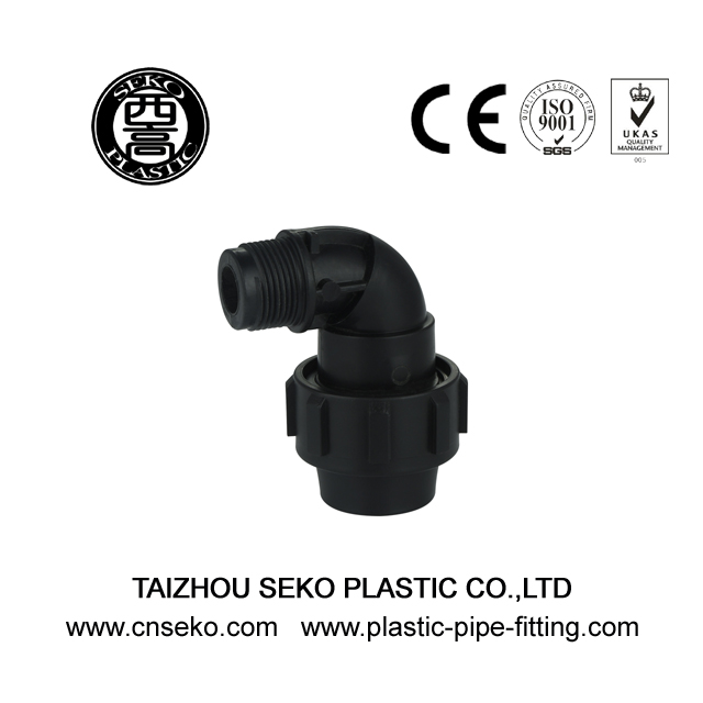 PP Compression Fittings-4-Male Elbow