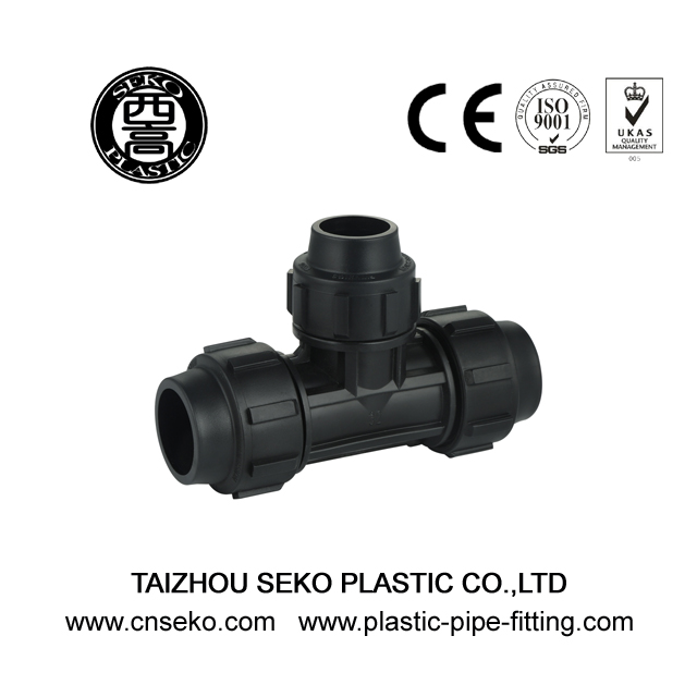 PP Compression Fittings-4-Reducing Tee