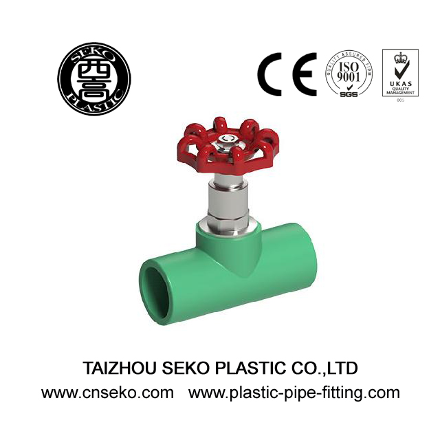 20mm-110mm customized high pressure PPR stop valve stopcock pipe fittings