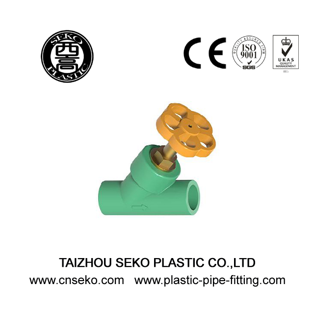 20mm-63mm green white grey PPR Y-Stop valve with plastic handle angle balance valve fittings